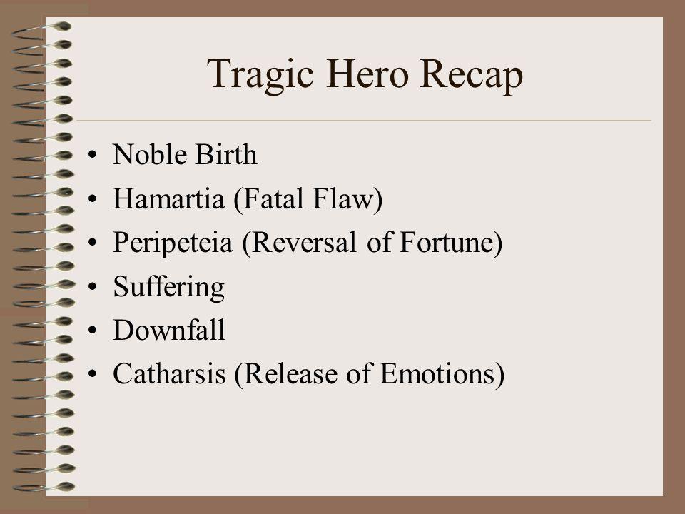 Tragic Hero Recap Noble Birth Hamartia (Fatal Flaw)