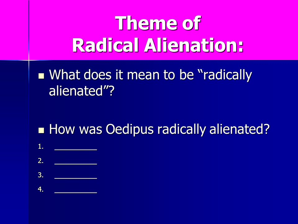 the theme of alienation in the 189 quotes have been tagged as alienation: stephen chbosky: 'i walk around the school hallways and look at the people i look at the teachers and wonder.