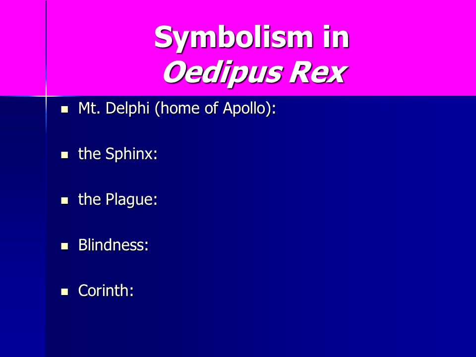 Symbols In Oedipus The King Image Collections Meaning Of This Symbol