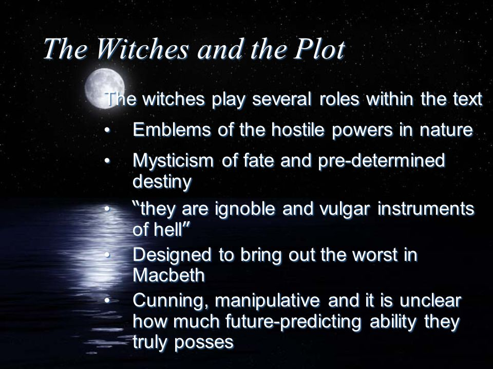 The Witches and the Plot