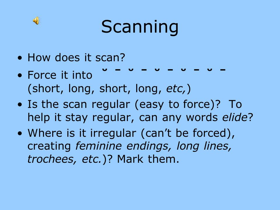 Scanning How does it scan