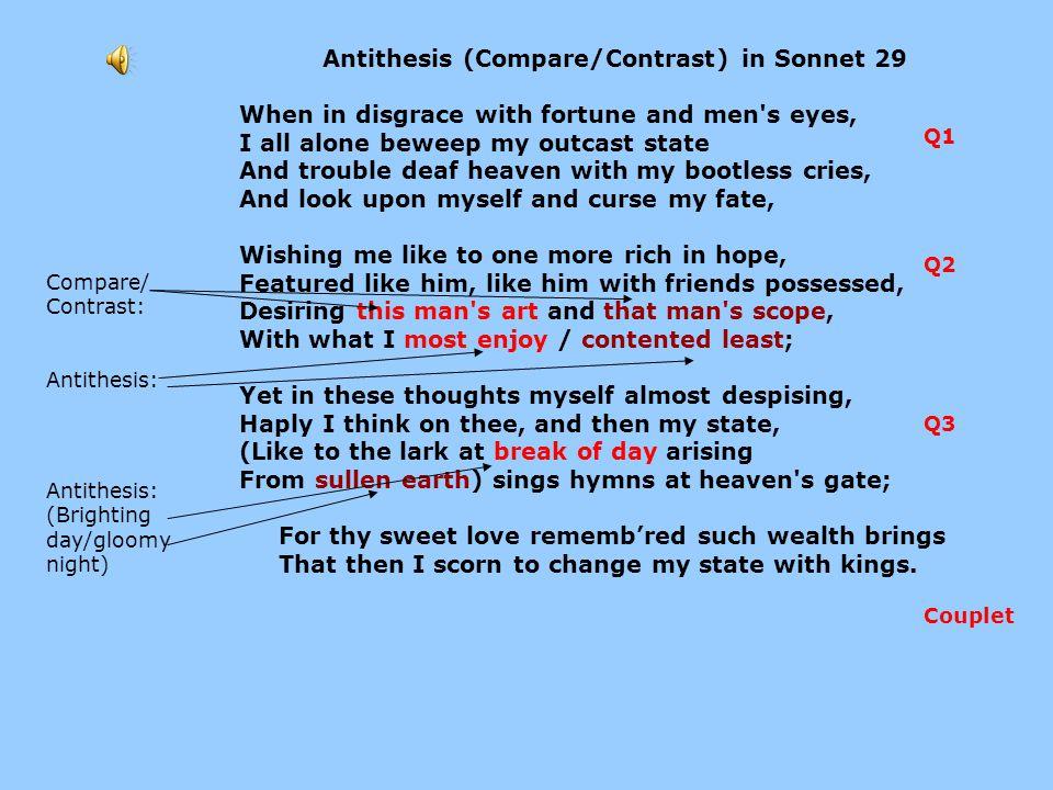 comparison and contrast paragraph about love