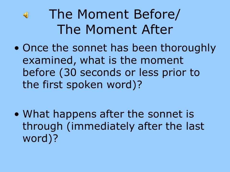 The Moment Before/ The Moment After