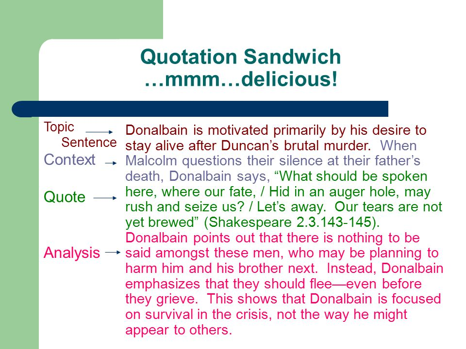 Quotation Sandwich …mmm…delicious!