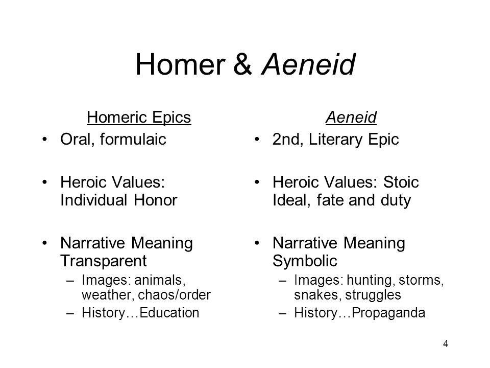 Homer & Aeneid Homeric Epics Oral, formulaic