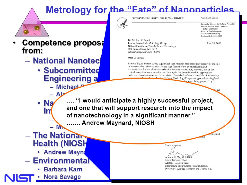 Metrology for the Fate of Nanoparticles
