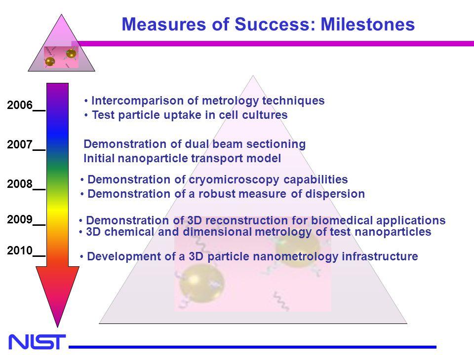 Measures of Success: Milestones