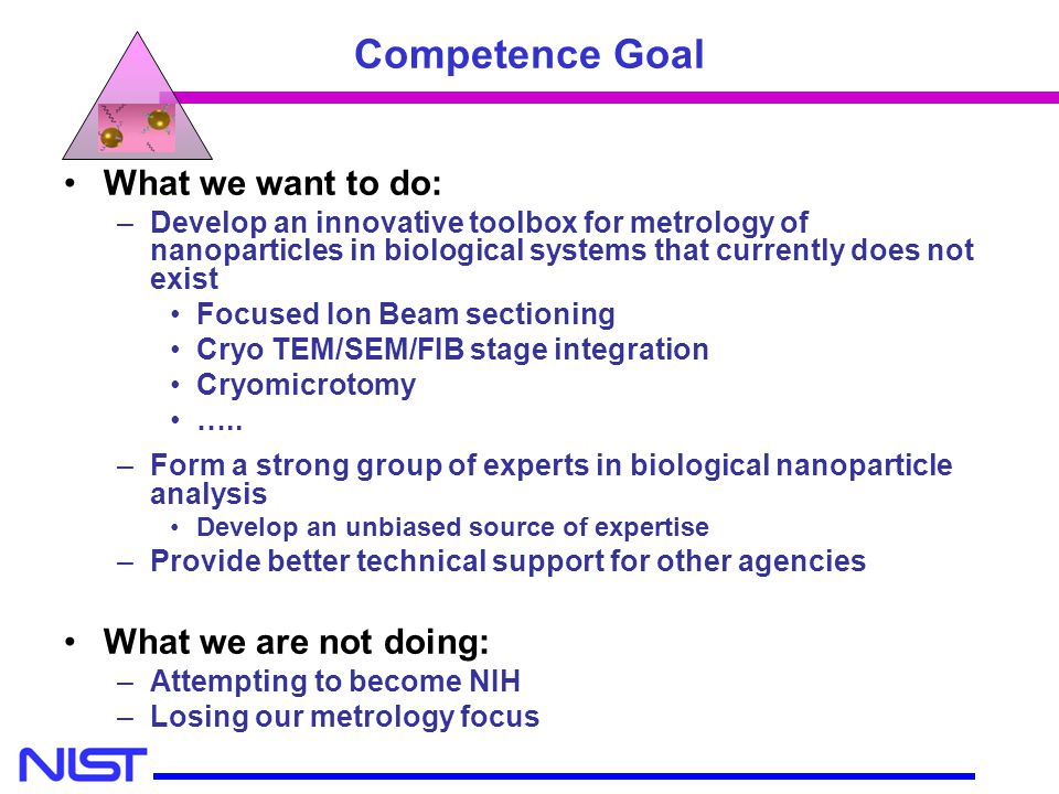 Competence Goal What we want to do: What we are not doing: