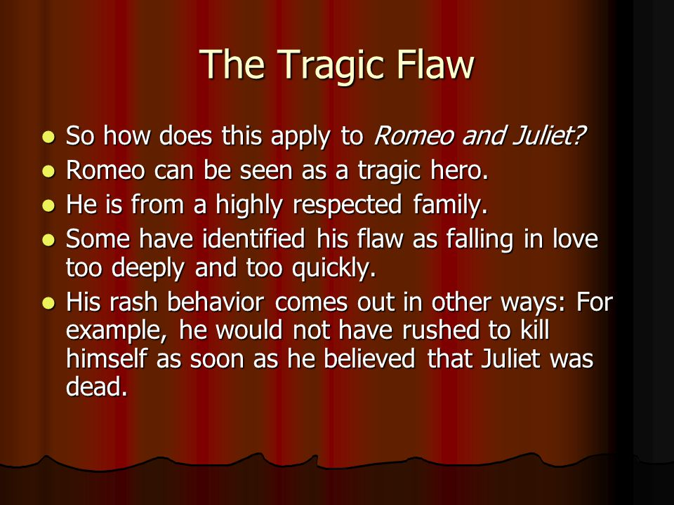 the role of fate in romeo