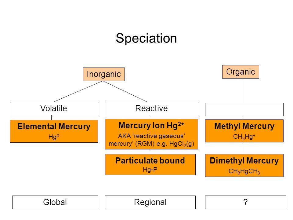 Speciation Organic Inorganic Volatile Reactive Elemental Mercury