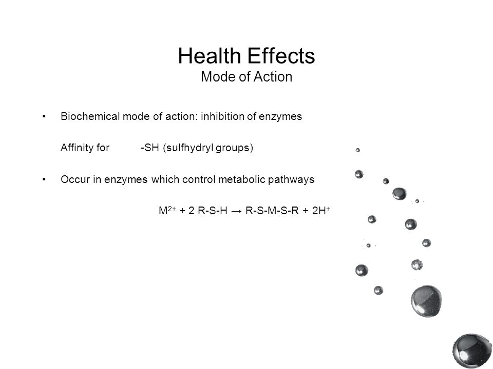 Health Effects Mode of Action