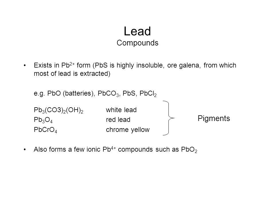Lead Compounds Pigments