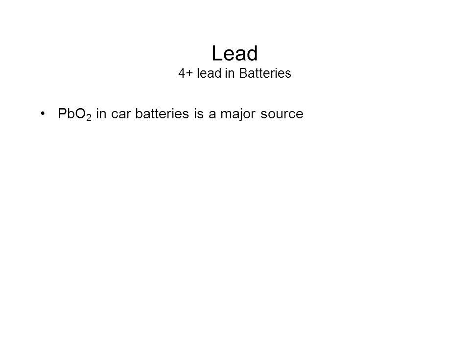 Lead 4+ lead in Batteries