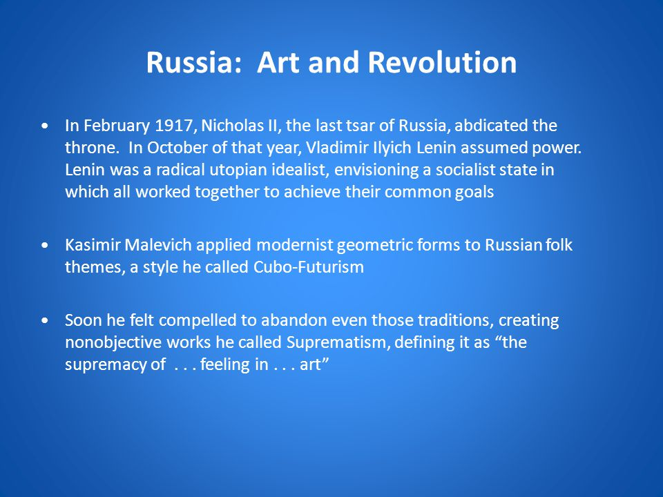 Russia: Art and Revolution