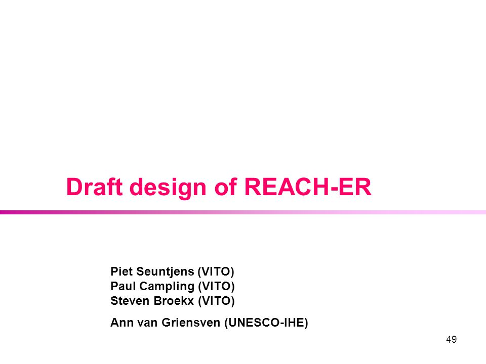Draft design of REACH-ER