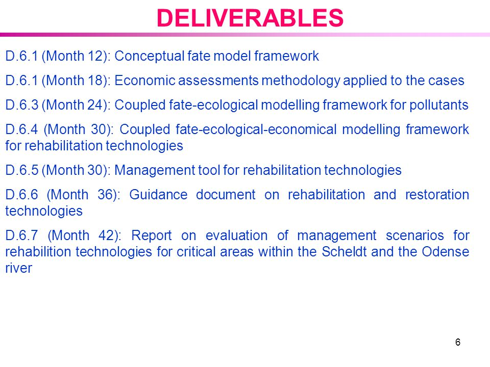 DELIVERABLES D.6.1 (Month 12): Conceptual fate model framework