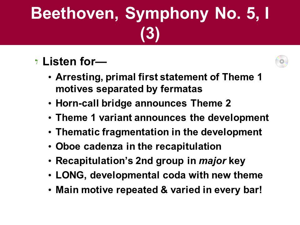 Beethoven, Symphony No. 5, I (3)