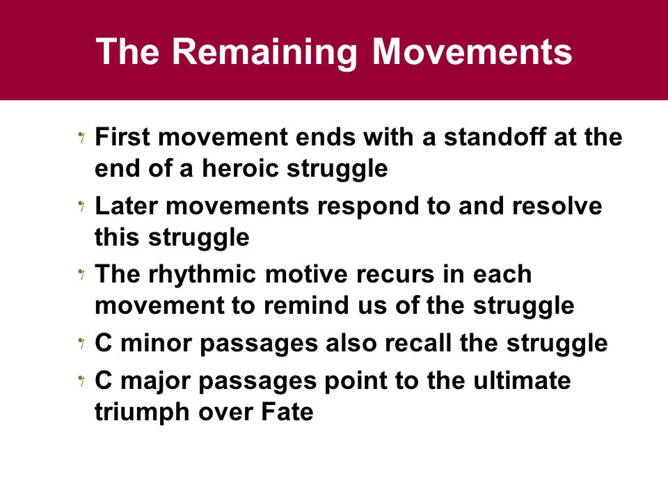 The Remaining Movements