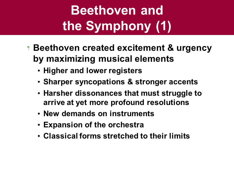 Beethoven and the Symphony (1)