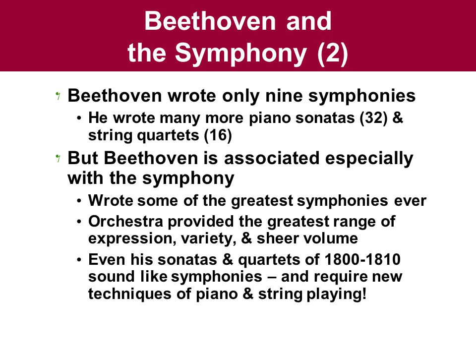 Beethoven and the Symphony (2)