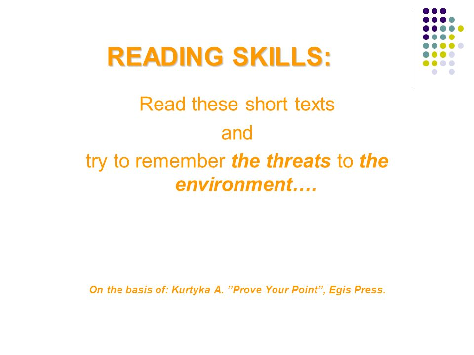 On the basis of: Kurtyka A. Prove Your Point , Egis Press.