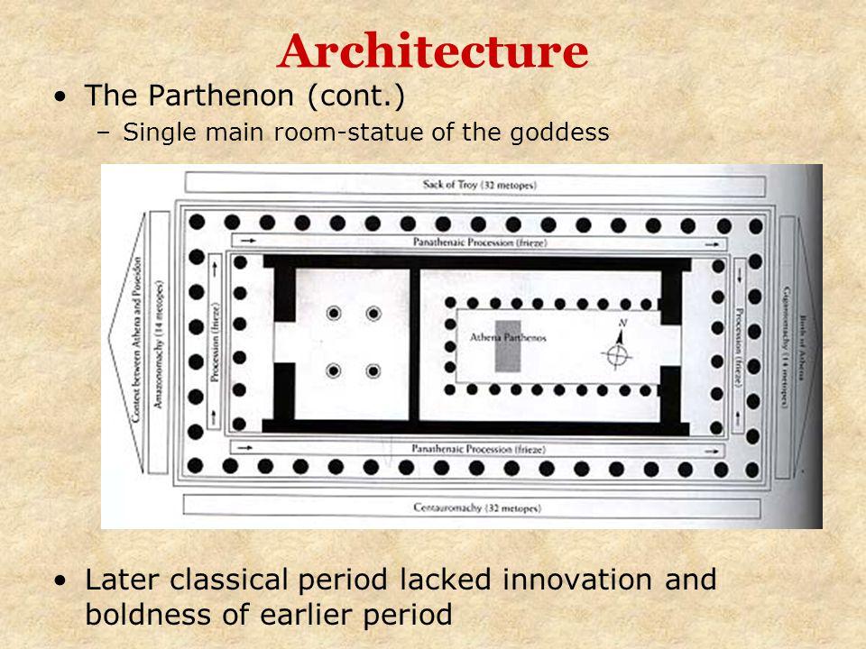Architecture The Parthenon (cont.)
