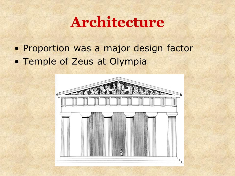 Architecture Proportion was a major design factor