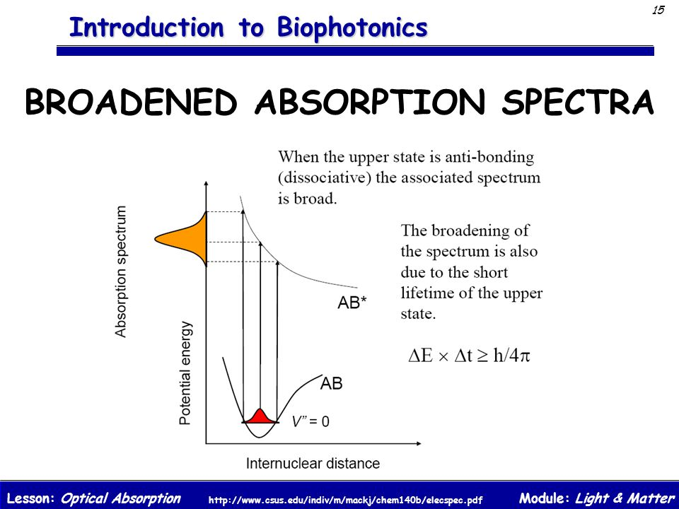 BROADENED ABSORPTION SPECTRA