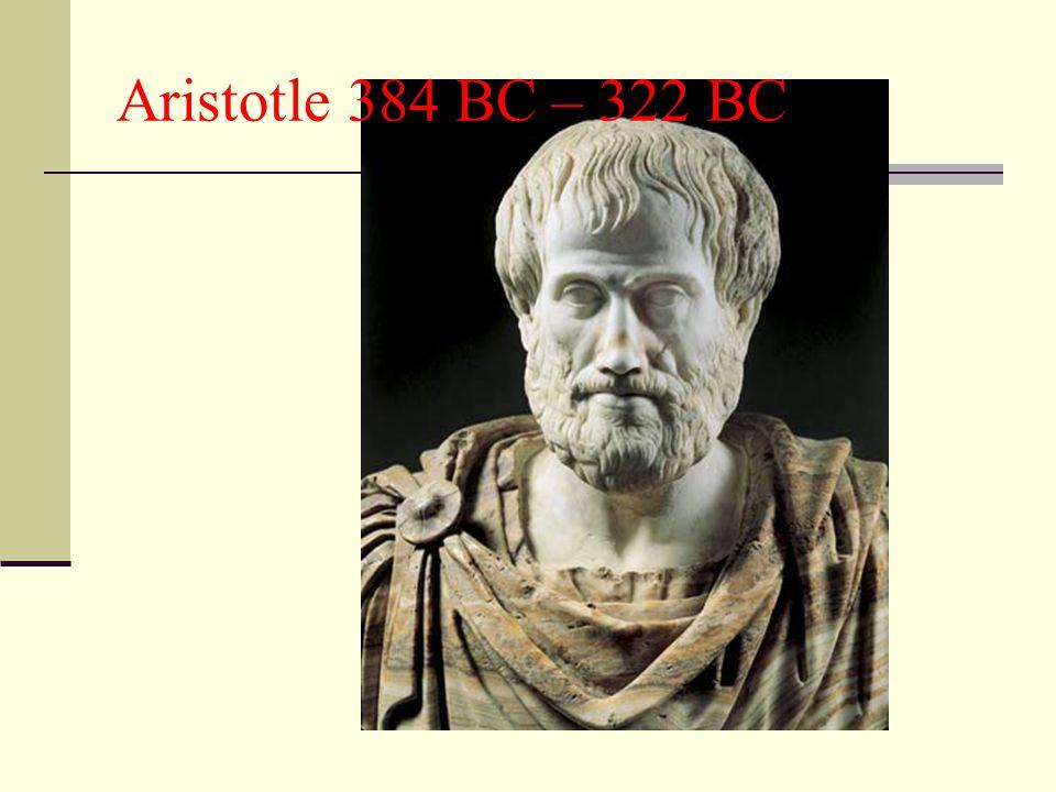 Aristotle 384 BC – 322 BC