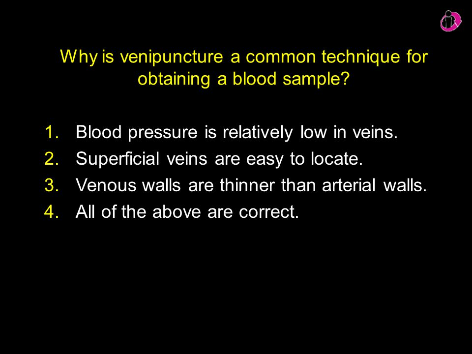Why is venipuncture a common technique for obtaining a blood sample