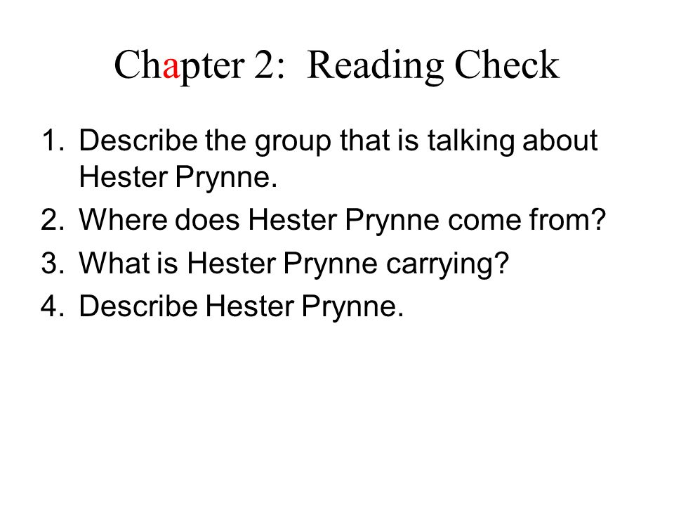 Chapter 2: Reading Check