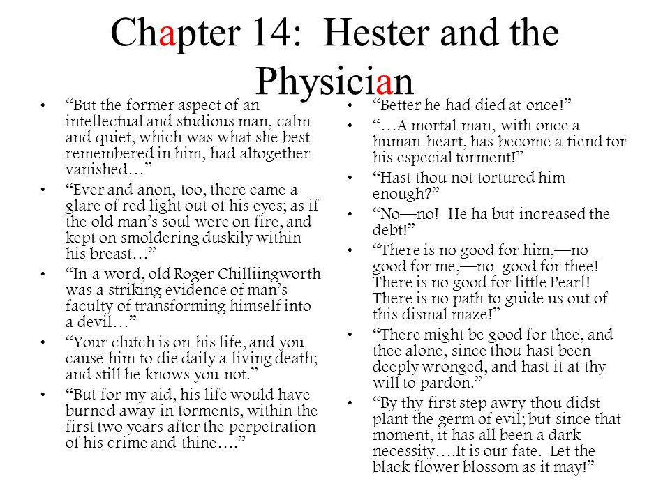 Chapter 14: Hester and the Physician