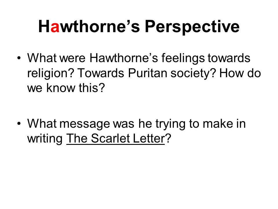an analysis of puritan society in the scarlet letter by nathaniel hawthorne