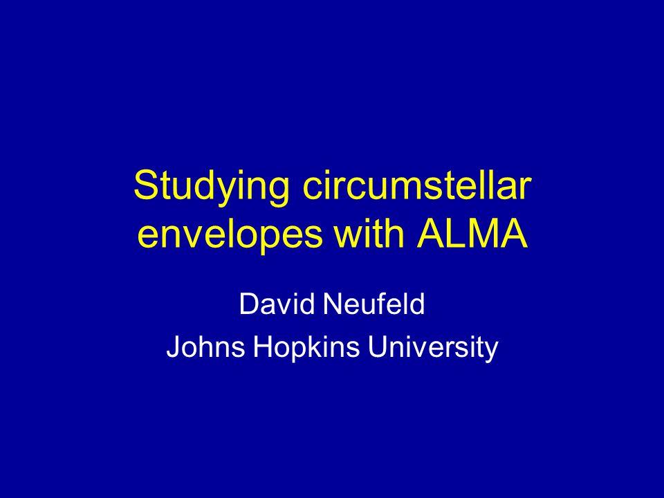 Studying circumstellar envelopes with ALMA