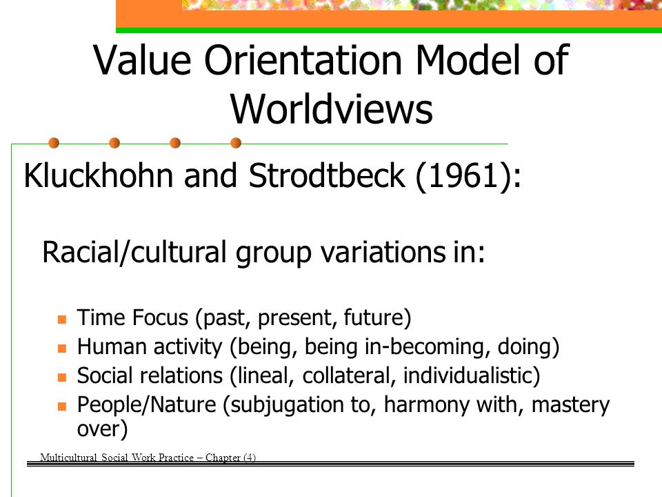 Value Orientation Model of Worldviews