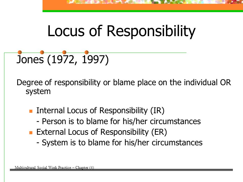 Locus of Responsibility