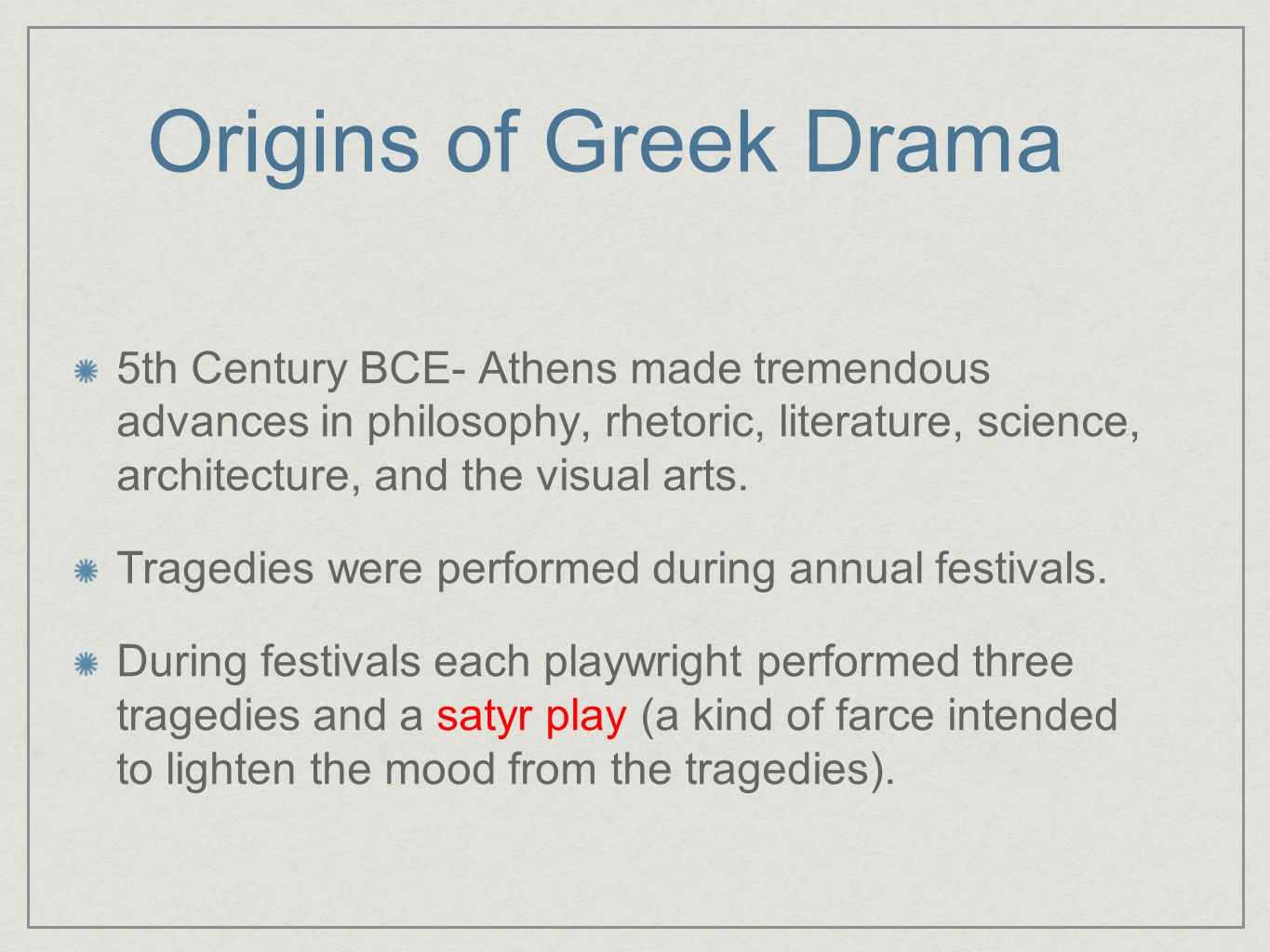 Origins of Greek Drama