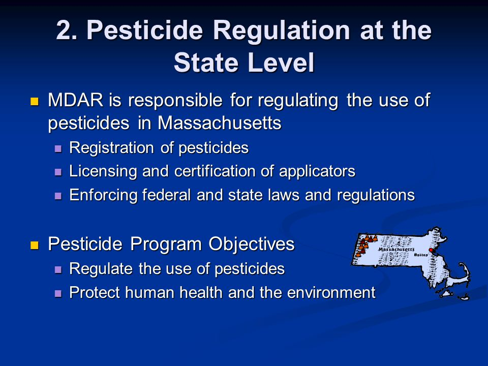 2. Pesticide Regulation at the State Level