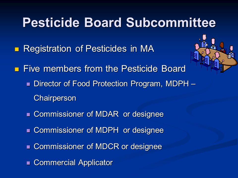 Pesticide Board Subcommittee