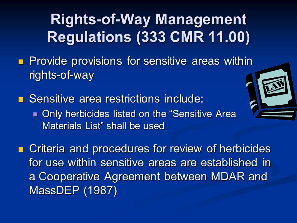 Rights-of-Way Management Regulations (333 CMR 11.00)