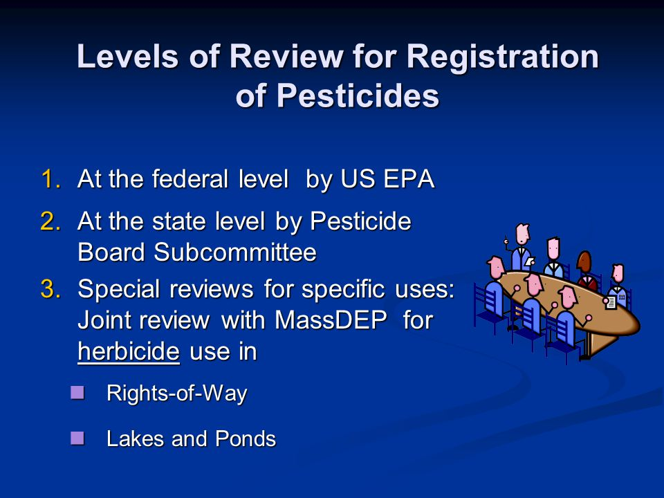 Levels of Review for Registration of Pesticides
