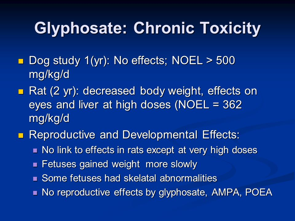Glyphosate: Chronic Toxicity
