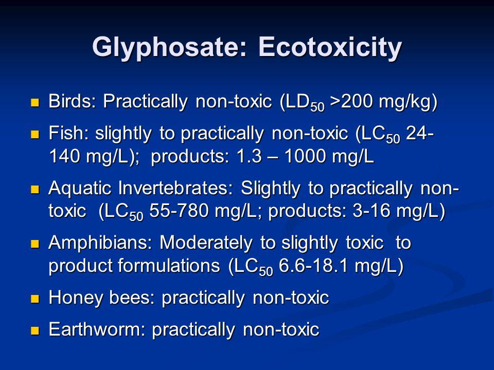 Glyphosate: Ecotoxicity