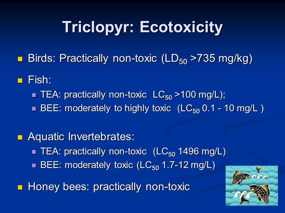 Triclopyr: Ecotoxicity