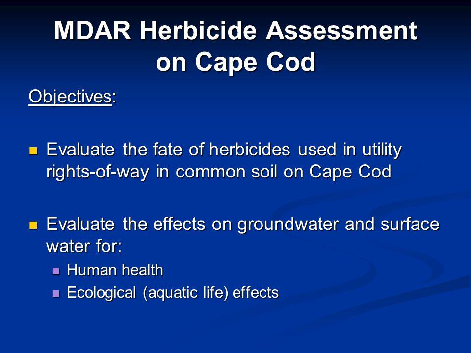 MDAR Herbicide Assessment on Cape Cod