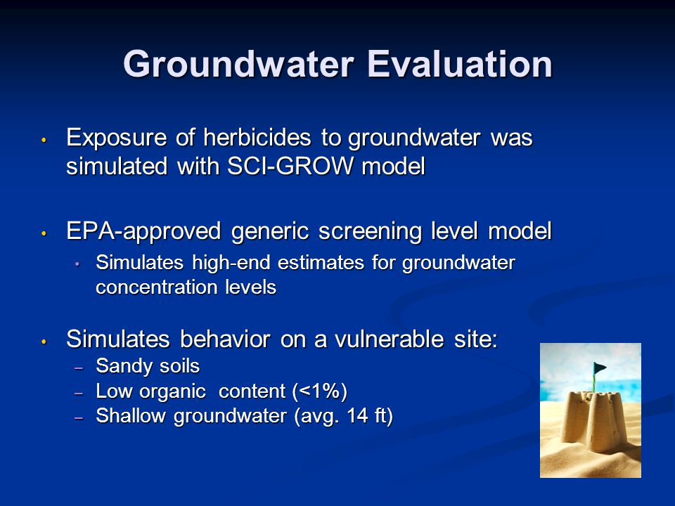 Groundwater Evaluation
