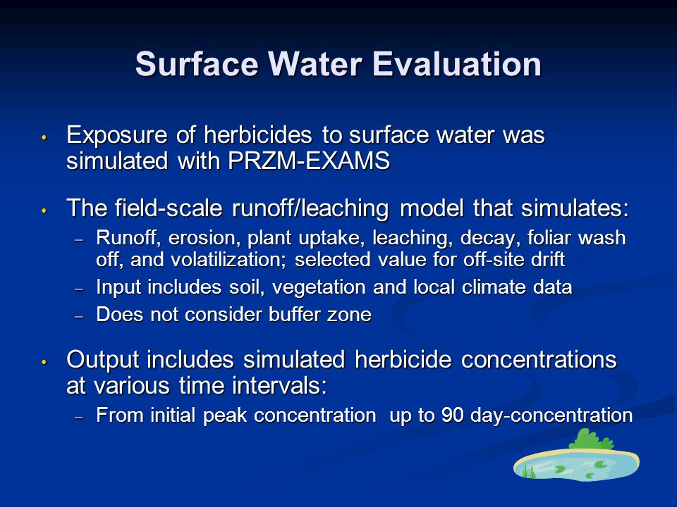 Surface Water Evaluation