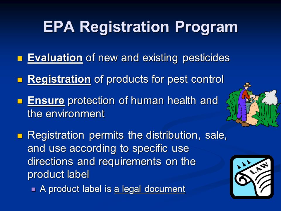 EPA Registration Program