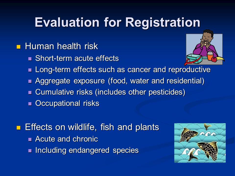 Evaluation for Registration