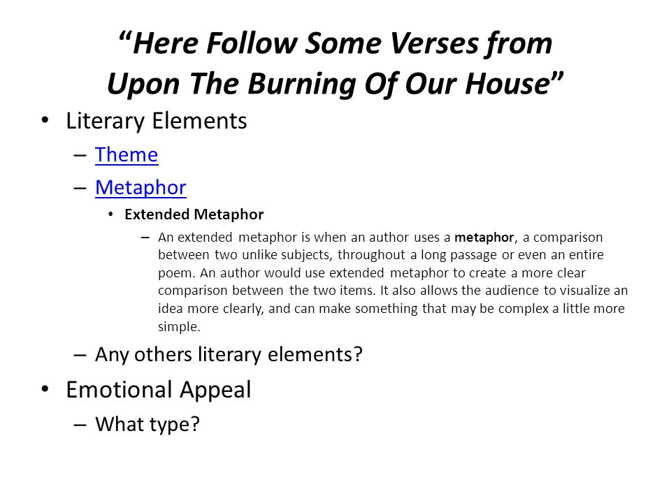 a summary and analysis of the poem here follows some verses upon the burning of our house by anne br